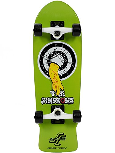 Santa Cruz Green Homer One Micro Cruiser Complete Skateboard (Default , Green)