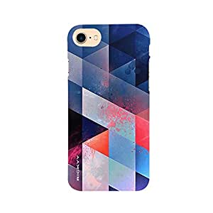 RICKYY _ip7_1053 Printed matte designer Blue and pink color case for Apple iPhone 7