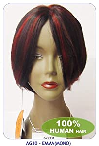 New born free human hair wig: EMMA-Color: F27/613