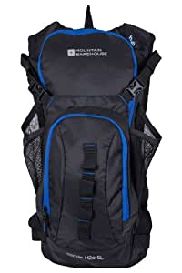 Mountain Warehouse Unisex Sports Trekking Stride 5 Litre Hydro Bladder Hydration Backpack Carry Bag Black