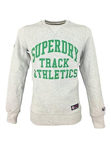 Superdry -  Felpa  - Maniche lunghe  - Uomo grigio Medium