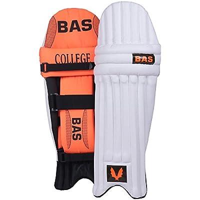 BAS College Men's PVC Cricket Batting Pads (Size: Men, Orange & Black)