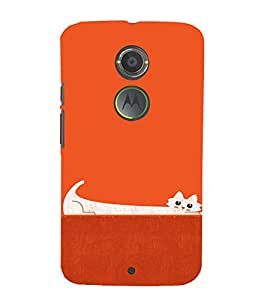 EPICCASE Stretchy cat Mobile Back Case Cover For Moto X 2nd Gen (Designer Case)