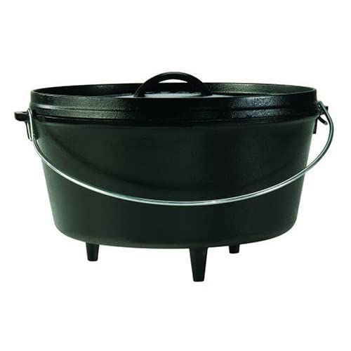 lodge logic 8 quart camp dutch oven griddle cast iron ebay
