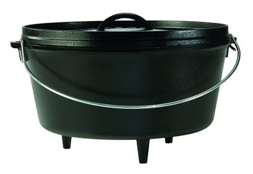 Lodge Logic 8-Quart Pre-Seasoned Cast-Iron Camp Dutch Oven