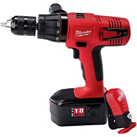 Milwaukee 0627-24 18-Volt Ni-Cad 1/2-Inch Cordless Hammer Drill/Driver Kit