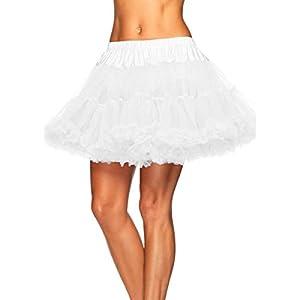 Leg Avenue Plus Size Petticoat, White, 1X-2X