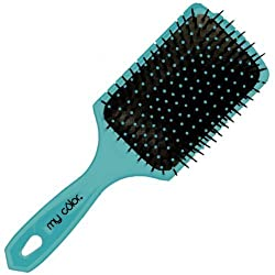My Color Large Cushion Paddle Brush -Blue
