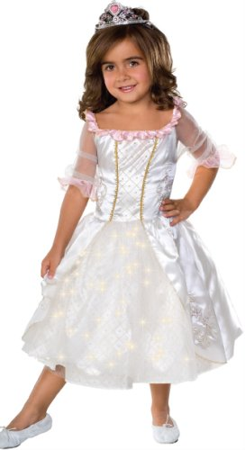 Child's Fairy Tale Princess Costume with Fiber Optic Light Twinkle Skirt - Small