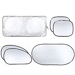 Sunshade For Cars,2win2buy New Arrival Front Rear Windshield Car Window Foldable Sun Shade Shield Cover Visor UV Block by 2win2buy