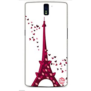 Designer One Plus One Case Cover Nutcase - Flowers and Love on Eiffel