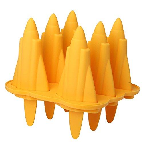 6 x Unique Popsicle mold/moule à glace en silicone alimentaire sans BPA Crème Glacée Popsicle été