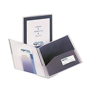Avery Flexi-View Two Pocket Folder, Navy Blue, 1 Folder (47876)