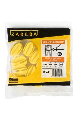 Zareba Icy-Z Corner Post Insulator, Yelllow, 10 Per Bag