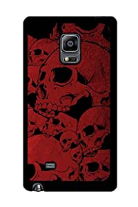 Caseque Red Skull Back Shell Case Cover For Samsung Galaxy Note 4 Edge