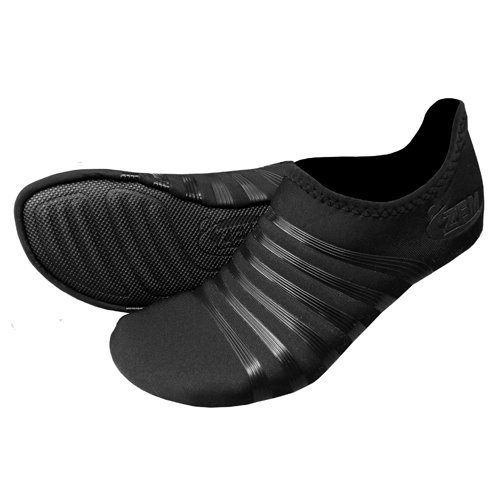 ZEMGEAR Unisex Playa Low Round Toe (XS (M 6-7/W 7-8), Black/Black)
