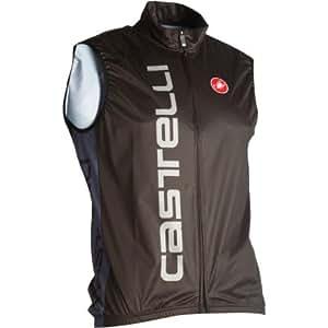 Castelli Mortirolo Wind Vest - Men's Black/Grey, XXL
