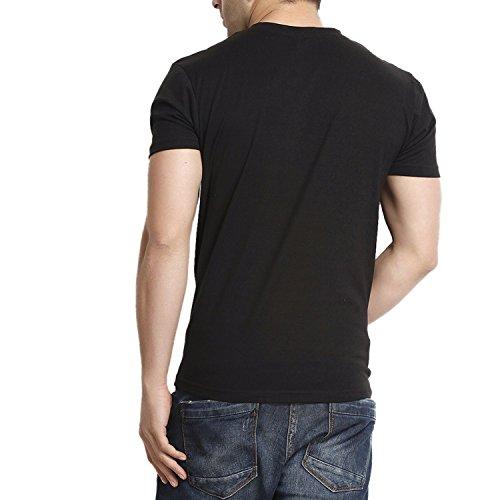 Gritstones-Mens-Button-Front-Cotton-T-Shirt