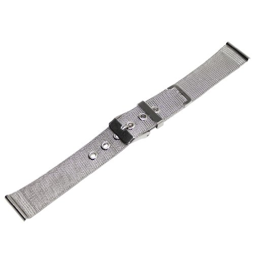 Ritche 16mm Mesh Stainless Steel Bracelet Wrist Watch Band Strap Pin Buckle Color Silver