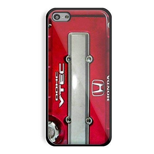 JDM Honda DOHC Vtech Valve Cover Red for Iphone and Samsung Galaxy (iPhone 5C black) (Honda Vtech Emblem compare prices)