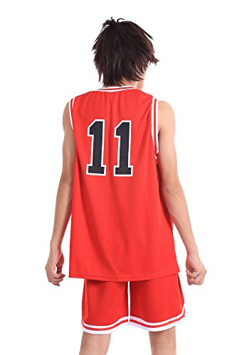 ICEMPs Slam Dunk Shohoku High School Rukawa Kaede Red 11 Jersey V1 Set M huong anime slam dunk 24cm number 11 rukawa kaede pvc action figure collectible toy model brinquedos christmas gift