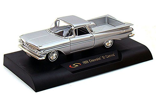 1959 Chevy El Camino Pickup Truck, Silver - Signature Models 32438 - 1/32 Scale Diecast Model Toy Car (El Camino Model compare prices)