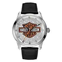 Harley-Davidson Men's Diamond Plate Bar & Shield Watch