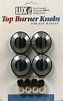 Lux Products Corp 4Pk Blk Gas Burner Knob Cpr410 Range Parts & Accessories
