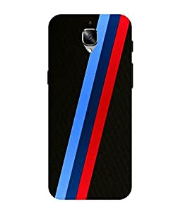swank:tri-color stripes printed OnePlus 3 back case cover