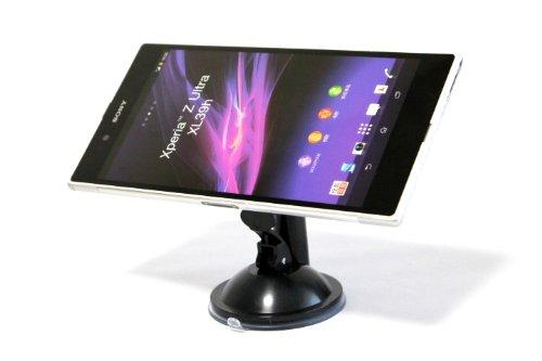 XPERIA Z Ultra スマートフォン 吸盤式 マルチアングルホルダー 360°回転操作 ( au SOL24 / SGP412JP 対応 )Mobile Phone Smart Holder車内ナビ ポータブルスタンド