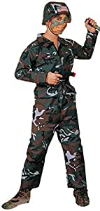Forest Camo Soldier Costume, Child Small