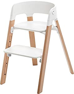 stokke chaise haute steps naturel b b s. Black Bedroom Furniture Sets. Home Design Ideas