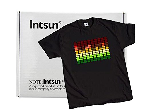 Intsun® Led Sound Activated E-Q T-Shirt Double Extra Large (Xxl)