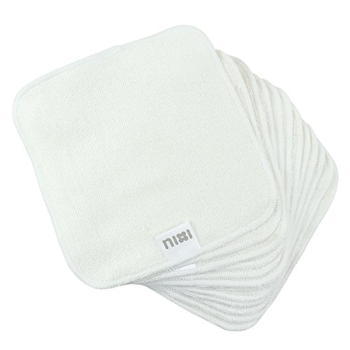 Bumkins Nixi Bamboo Reusable Wipes, 12 Count - 1