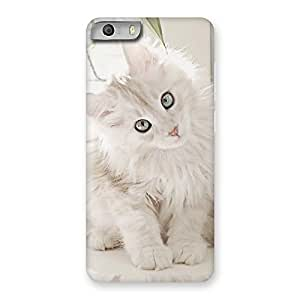 Cute Look Kitty Back Case Cover for Micromax Canvas Knight 2