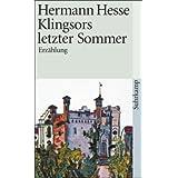 """Klingsors letzter Sommer: Erz�hlung (suhrkamp taschenbuch)von """"Volker Michels"""""""