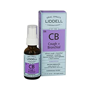 Liddell Homeopathic Cough + Bronchial - Relieves Coughing 1 fl. oz
