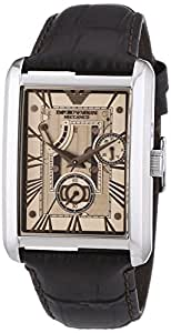 Emporio Armani Herren-Armbanduhr XL Analog Automatik Leder AR4243