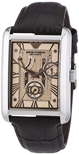 Emporio Armani  0 - Reloj de 0 para hombre, con correa de cuero, color marrón