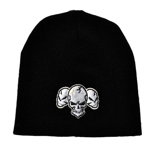 Pointe Embroidered Skull Black Man Woman Soft Winter Hat Knit Beanie Snowboard Ski Cap Ribbed Extra Warmth