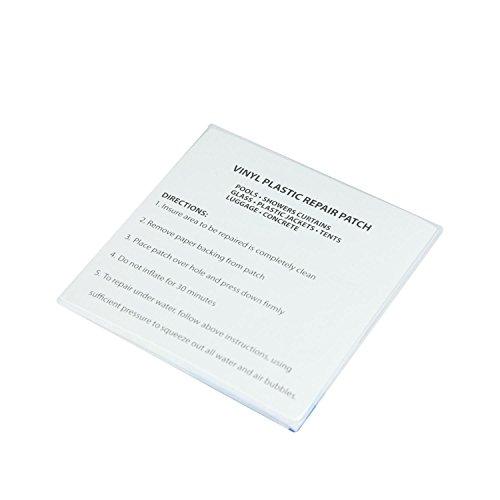 Pack of 5 Plastic Repair Patches for Vinyl Inflatables (Plastic Inflatable Repair Kit compare prices)