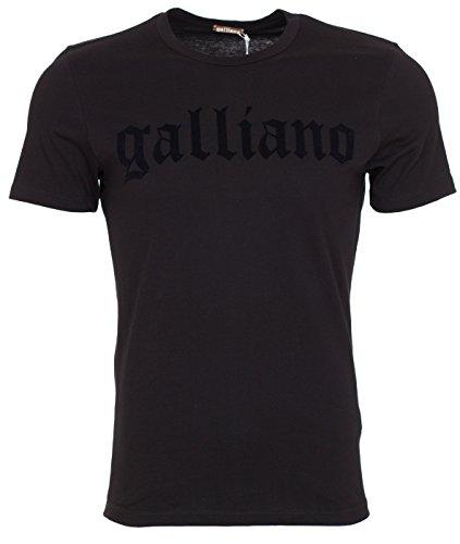 john-galliano-mens-black-velvet-logo-t-shirt-black-m