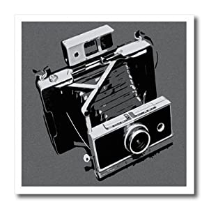 Kike Calvo Picture of a Old Vintage Classic Camera with Bellows Iron on Heat Transfer Paper, 8 by 8-Inch