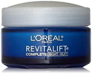 L'Oreal Paris RevitaLift Anti-Wrinkle + Firming Night Cream, 1.7 Fluid Ounce