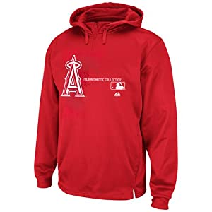 MLB Los Angeles Angels Authentic Collection Change Up Therma Base Performance Hooded... by Majestic