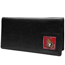 NHL Ottawa Senators Executive Genuine Leather Checkbook Cover