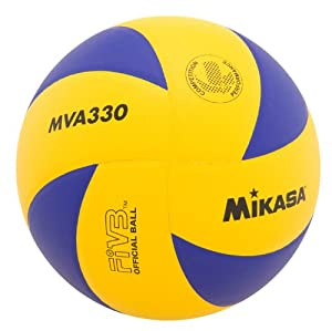 Buy Mikasa MVA330 Spiral Club Volleyball (Blue Yellow) by Mikasa Sports