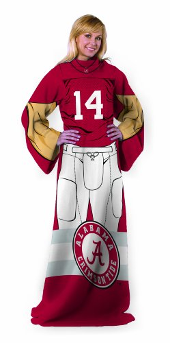 Ncaa Alabama Crimson Tide Licensed Adult Comfy Throw Blanket With Sleeves front-502113