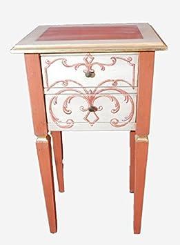 Mueble madera Made in Italy RONI Compatible con múltiples usos: muebles dormitorio decoración mesa, cómoda entrada como mobile appoggiatutto. decorada a mano 44xP H77 x 35 L