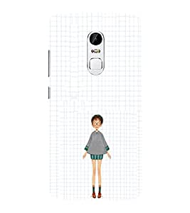 EPICCASE Little girl with short dress Mobile Back Case Cover For Lenovo Vibe X3 (Designer Case)